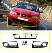 FOR SEAT IBIZA, CORDOBA 2002 - 2006 NEW FRONT BUMPER LOWER GRILL PAIR SET BLACK