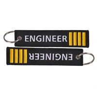 1Pcsmove-Before-Flight Engineer Key Chain Jewelry Embroidery Keyring Chain