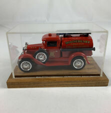 Liberty Classics Model A Fire Truck Coin Bank 1/25 With Display Case