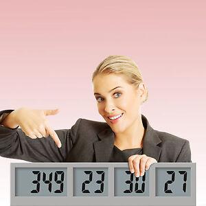 Countdown Wall Clock LCD Display, Countdown Wall Clock Radio Control, Battery