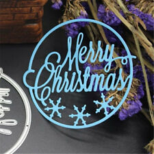 Merry Christmas DIY Metal Cutting Dies Scrapbooking Album Card Making Fun Craft