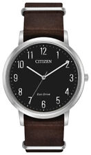 Citizen Eco-Drive Men's Chandler Black Dial Brown Leather 41mm Watch BJ6500-04E