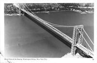 New York City~Huge George Washington Bridge~Real Photo Postcard 1940s RPPC
