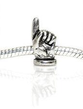 Pointer Finger Bead Charm Spacer For Snake Chain Charm Bracelet