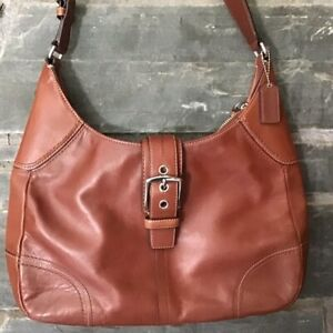Coach Hamilton Large Leather Brown Hobo Bag