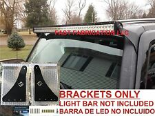 "Hummer H3 50 Inch 50"" LED Light Bar Mount Brackets -Straight/Curved - RIVNUT"