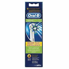 Original Braun Oral B Crossaction Electric Toothbrush Brush Heads 4 Pack Action