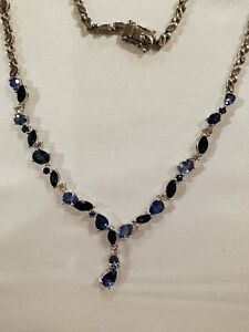 Le Vian Diamond & Sapphire Necklace, 14K White Gold, MSRP$14,550