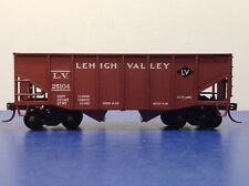 "HO Scale ""Lehigh Valley"" LV 25104 2-bay Open Hopper Freight Train Car"