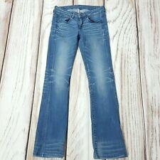 Ladies G Star Raw 3301 Mid Bootleg Stretch Slim Jeans W26 Size UK 8