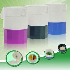 Pill Crusher Grinder Splitter Tablet Divider Cutter Storage Plastic Box SetLayer