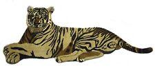 Hand Tufted Wool Tiger Carpet Animal Theme 85'x185' Cm Sitting Tiger Mat