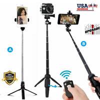 360° Rotation Selfie Stick Tripod Remote Holder Mount Stand For Camera Phone USA