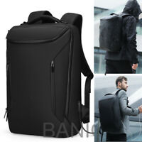 Men Anti-Thief Waterproof 15.6 Laptop USB Backpack Travel School Computer Bag