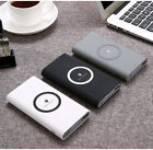 Mini 3 in 1 Qi wireless mobile phone charger power bank 10000mAh,white