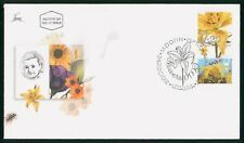 MayfairStamps Israel 2002 Flower Stamps 3 Tabs First Day Cover wwr15537