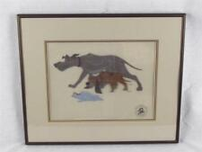 Disney Fox & Hound Original Hand Paint Production Art Cel - Copper & Chief