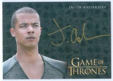 """JACOB ANDERSON """"GREY WORM GOLD AUTOGRAPH"""" GAME OF THRONES VALYRIAN STEEL"""