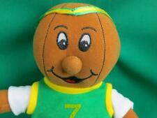 BASKETBALL SHAPED HEAD 1998 GREEN YELLOW JERSEY PLAYER SUGARLOAF PLUSH STUFFED
