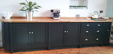 Painted Free standing Kitchen cupboard and drawer units