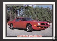 1974 PONTIAC TRANS AM 455 SD Super Duty Muscle Car Photo 1992 SPEC TRADING CARD