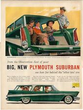 1957 Plymouth Suburban Sport Station Wagon PRINT AD