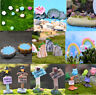 Fairy Garden Miniatures Gnomes Moss Terrariums Resin Figurines For Home Decor ZG