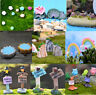 Fairy Garden Miniatures Gnomes Moss Terrariums Resin Figurines For Home DecorTS