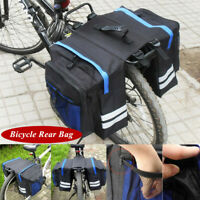 Universal Cycling Bicycle Rear Rack Seat Saddle Storage Pannier Pouch Bag Blue