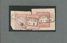 Preussen V. / SCHERFEDE je Ra2 auf DR-GAA 1 Gr. kl. Schild, DR 4 + Briefst. 19