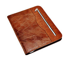 A4 soft Touch  Professional Portfolio Folder With Calculator & Pad- Brown CL-512