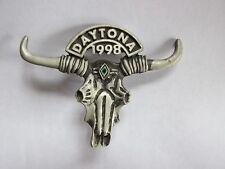 1998 Daytona Bike Week Biker Pewter Event Pin w/Clutch Back Long Horn Steer USA
