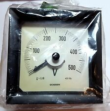 Gossen AC 500V Analog Panel Scale 240 Degrees Dial