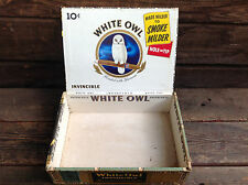 White Owl Blended with Havana Invincible Cigar Box with Tax Stamp Remnants