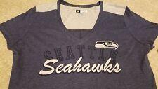 NEW Sexy Seattle Seahawks NFL Football Shirt Gray Womens Medium M