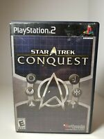 Star Trek: Conquest (Sony PlayStation 2, 2007) PS2 Complete! Tested! Black Label