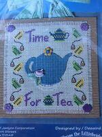 "Janlynn Time For Tea Counted Cross Stitch ""Felt Like Stitchin"" Kit 2001 New"
