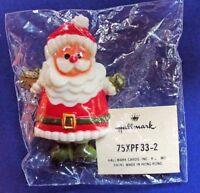 Hallmark PIN Christmas Vintage SANTA Olive Mittens Holiday Brooch 1970s RARE MIP