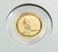 2014 Australia 1/10 oz Gold Kangaroo BU Coin in Capsule