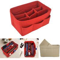 Multi-Pocket Insert Bag Felt Fabric Purse Handbag Bag Liner Tote Organizer L/M/S