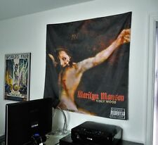 MARILYN MANSON Holy Wood HUGE 4X4 BANNER poster tapestry cd album wall decor