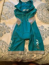 2Xu Womens Small Tri Suit Sleeveless Compre Triathlon Cycling Skinsuit Green