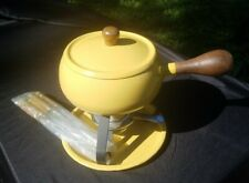 Imperial Fondue Pot Burner with Warmer, Tray, and skewers Japanese Vintage set