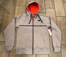 NWT Mens Sz M New Balance Bonded Tech Fleece Fleece Hooded Zip Jacket MJ53007
