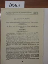 Govt Report Relief for Mrs. Tellisse W. Wilson for Stores and Supplies #2025A