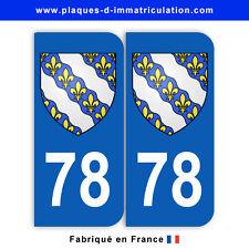 Stickers pour plaque département 78 Yvelines (jeu de 2 stickers) blason