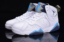 Nike AIR JORDAN 7 RETRO WHITE/FRENCH UNI UK 9
