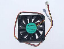 2 Pcs 6 cm Nidec D06R-12SL 17B 60x60x15mm 12V DC 0.04A 3 Pin Fan