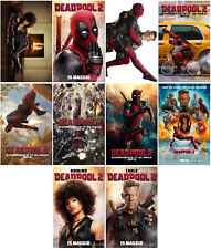 10pc Deadpool 2 Movie 2018 Mirror Surface Card Sticker Promo Card Poster C6799