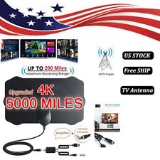 US 5000 Mile Shield HDTV Antenna 4K HD Indoor Digital TV Aerial Signal Amplifier